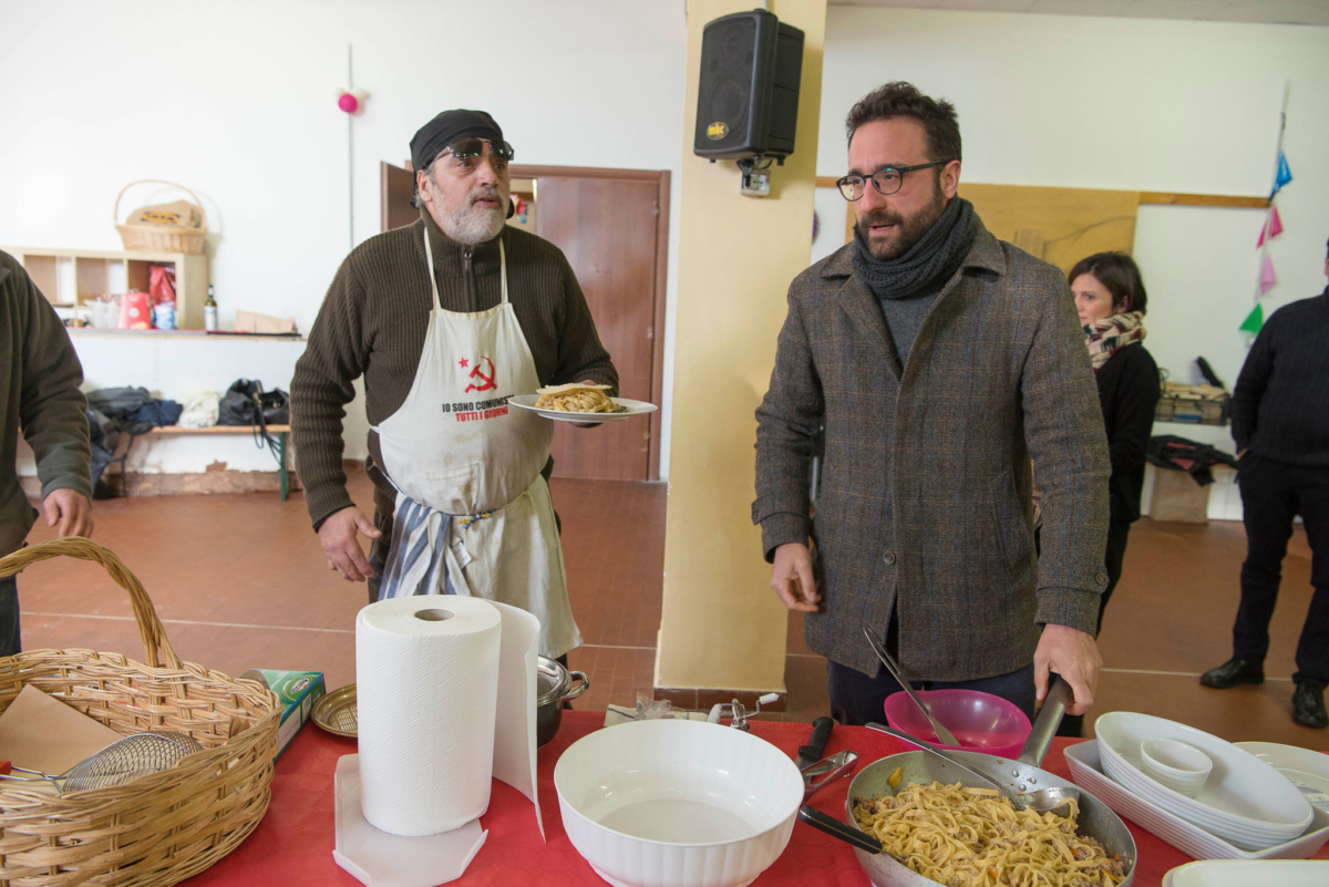 alessandro sarra & davide ferri introducing their main course